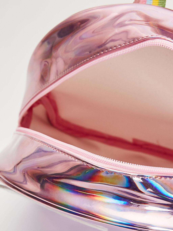 Kız Çocuk Kız Çocuk Kanat Detaylı Hologram Sırt Çantası