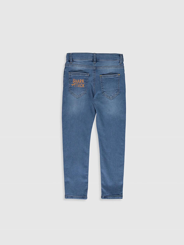 %90 Pamuk %7 Polyester %3 Elastan Normal Bel Dar Erkek Çocuk Skinny Jean Pantolon