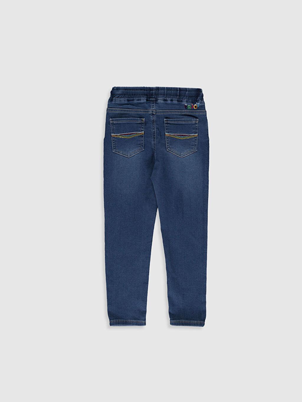 %63 Pamuk %32 Polyester %5 Elastan Normal Bel Standart Erkek Çocuk Jean Pantolon