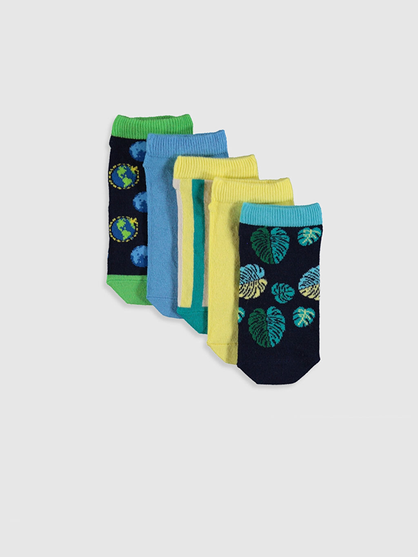 Çok Renkli Erkek Çocuk Patik Çorap 5'li 0S5953Z4 LC Waikiki