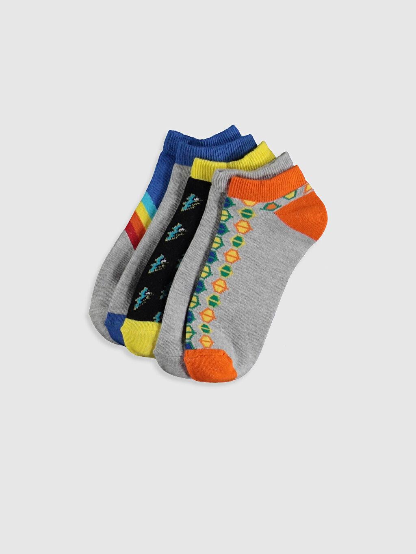 Çok Renkli Erkek Çocuk Patik Çorap 5'li 0S5959Z4 LC Waikiki