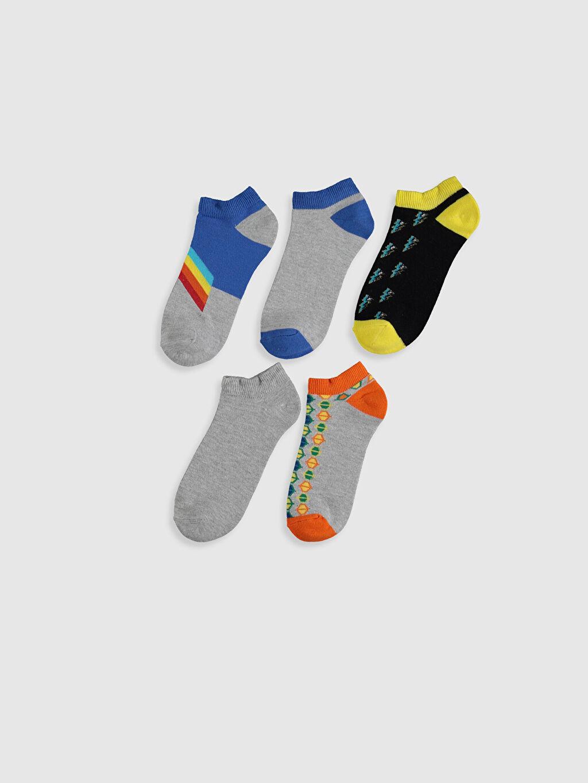 %54 Pamuk %14 Poliester %30 Poliamid %2 Elastan  Erkek Çocuk Patik Çorap 5'li