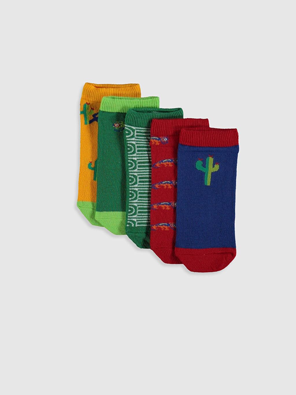 Çok Renkli Erkek Çocuk Patik Çorap 5'li 0S5964Z4 LC Waikiki