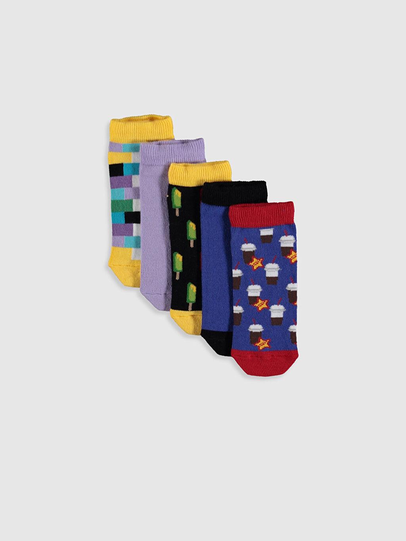 Çok Renkli Erkek Çocuk Patik Çorap 5'li 0S5976Z4 LC Waikiki