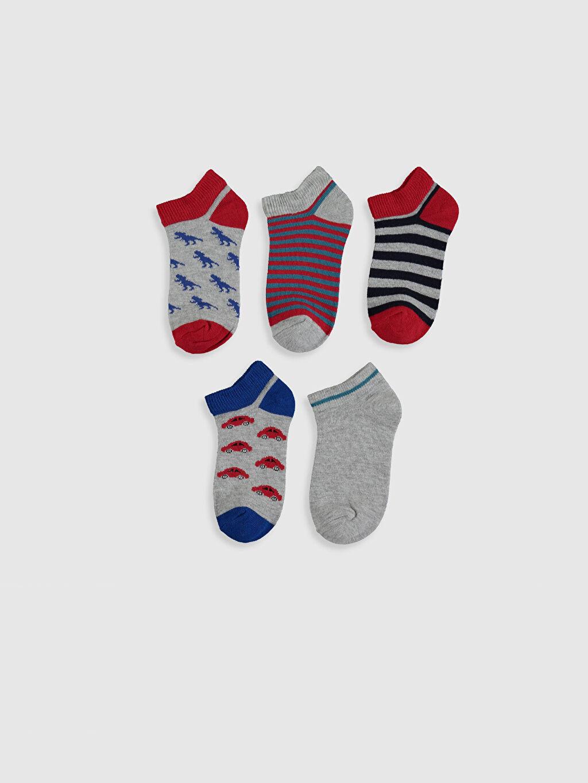 %55 Pamuk %24 Polyester %19 Poliamid %2 Elastan  Erkek Çocuk Patik Çorap 5'li