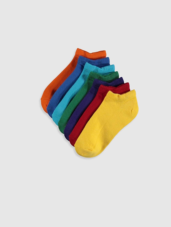 Çok Renkli Erkek Çocuk Patik Çorap 7'li 0S6019Z4 LC Waikiki