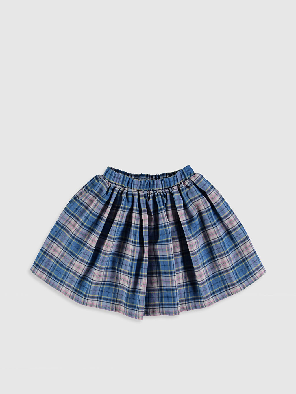 Mavi Kız Çocuk Ekose Kloş Etek 0S6168Z4 LC Waikiki