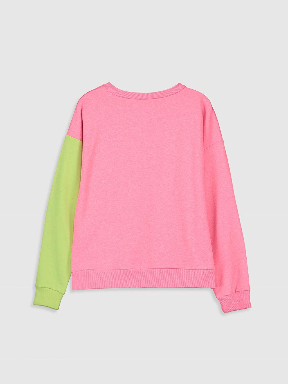 %80 Pamuk %20 Polyester  Kız Çocuk Slogan Baskılı Sweatshirt