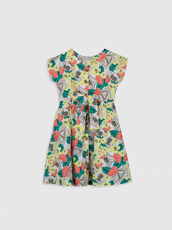 Beyaz Kız Çocuk Desenli Elbise 0S6223Z4 LC Waikiki