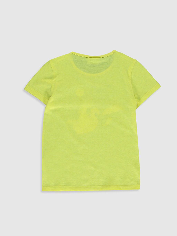%35 Pamuk %65 Polyester Standart Baskılı Tişört Bisiklet Yaka Kısa Kol Kız Çocuk Baskılı Pamuklu Tişört