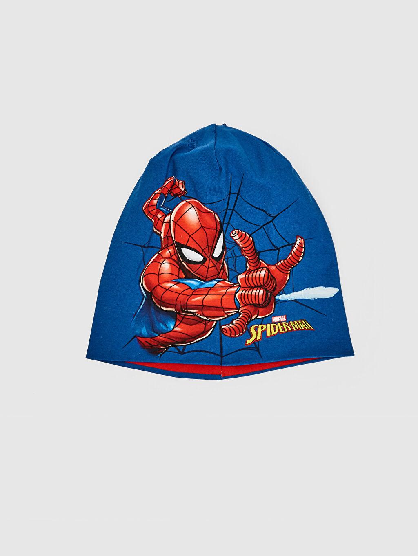 Mavi Erkek Çocuk Spiderman Baskılı Triko Bere 0S6259Z4 LC Waikiki