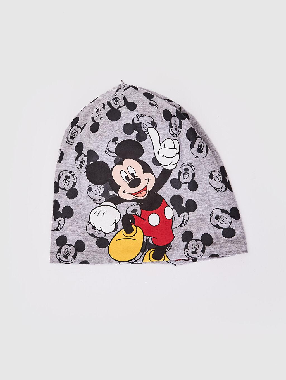 Gri Erkek Çocuk Mickey Mouse Baskılı Triko Bere 0S6295Z4 LC Waikiki