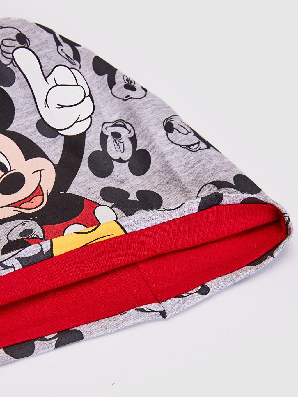 %47 Polyester %6 Elastan %47 Viskon %96 Pamuk %4 Elastan  Erkek Çocuk Mickey Mouse Baskılı Triko Bere