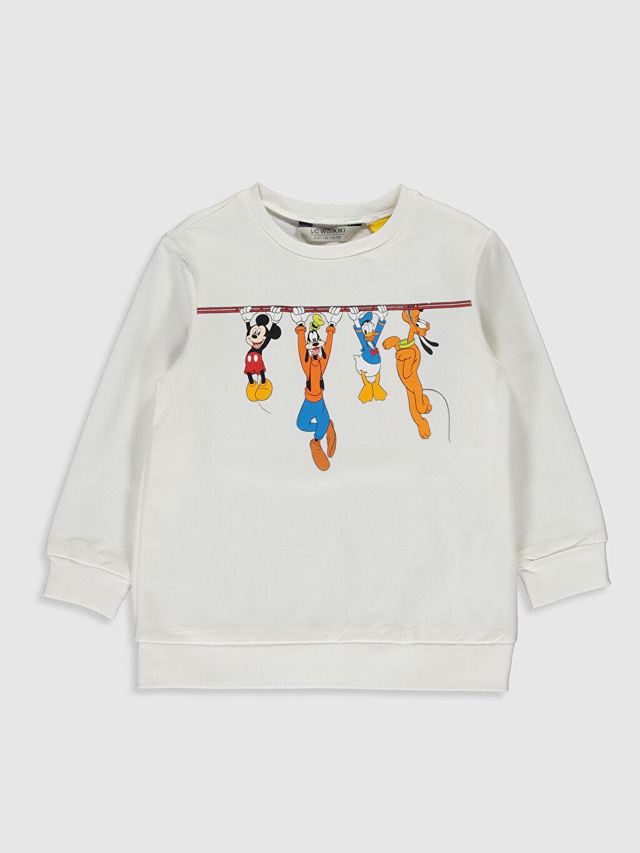 Ekru Kız Çocuk Disney Baskılı Sweatshirt 0S6304Z4 LC Waikiki