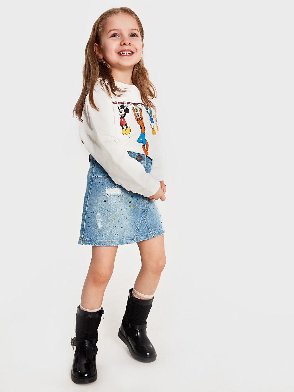 Kız Çocuk Kız Çocuk Disney Baskılı Sweatshirt