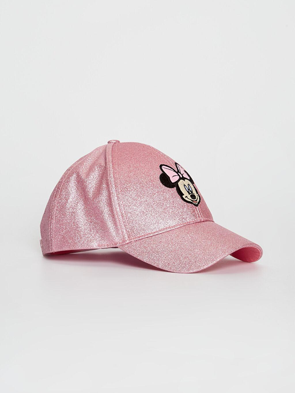 Pembe Kız Çocuk Minnie Mouse Lisanslı Simli Şapka 0S6411Z4 LC Waikiki