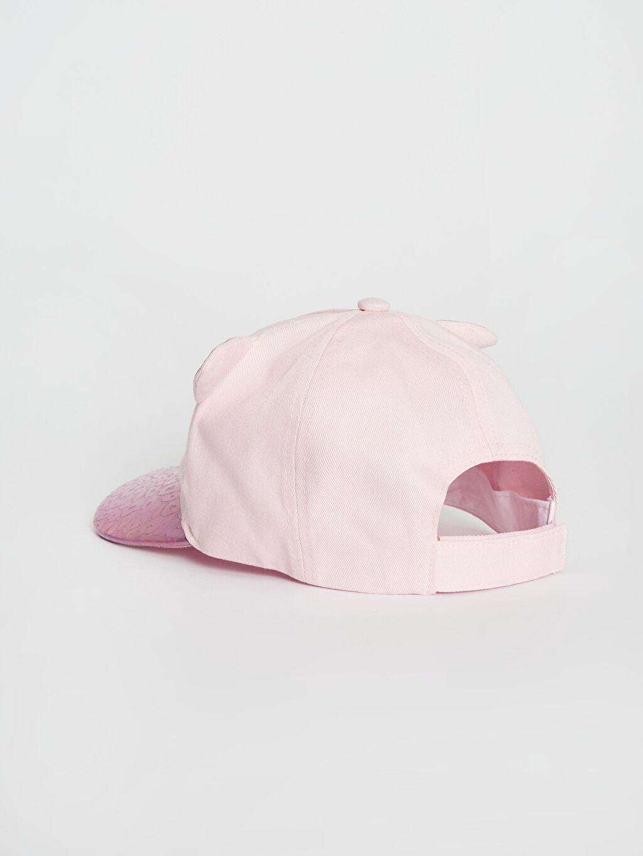 Kız Çocuk Kız Çocuk Hologram Detaylı Nakışlı Şapka