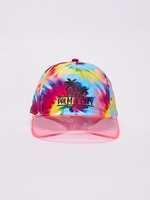%100 Polyester %100 Polyester  Kız Çocuk Batik Şapka