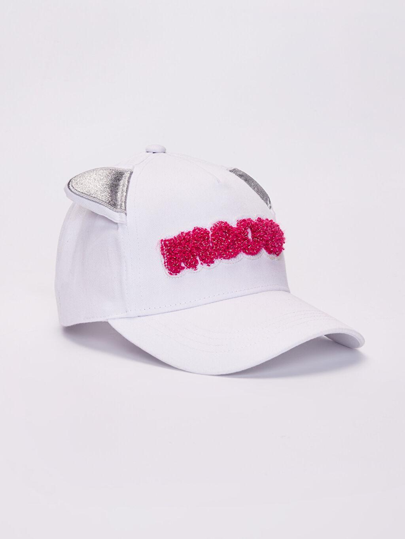 Beyaz Kız Çocuk İşlemeli Şapka 0S6444Z4 LC Waikiki