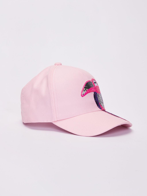 Pembe Kız Çocuk Payet Detaylı Şapka 0S6451Z4 LC Waikiki