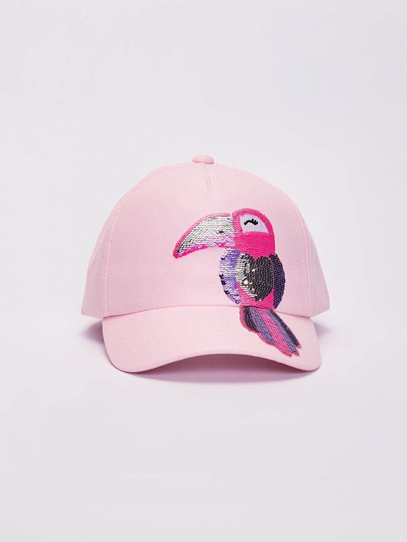%100 Polyester %100 Polyester  Kız Çocuk Payet Detaylı Şapka