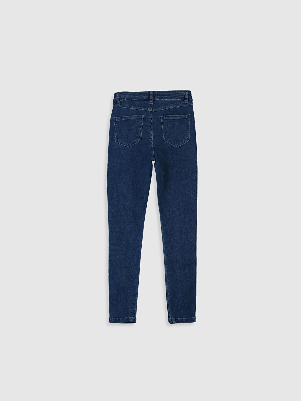 %90 Pamuk %7 Polyester %3 Elastan Normal Bel Dar Kız Çocuk Skinny Jean Pantolon