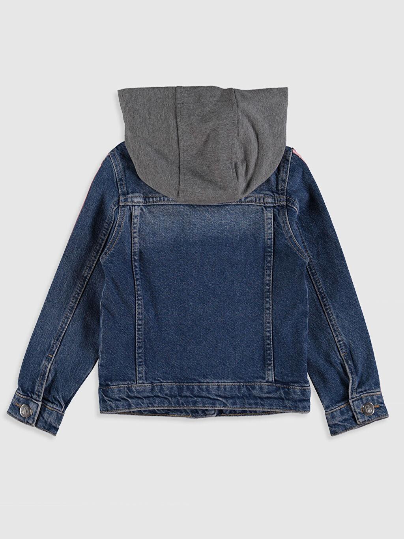%100 Pamuk Ceket Orta Kız Çocuk Jean Ceket