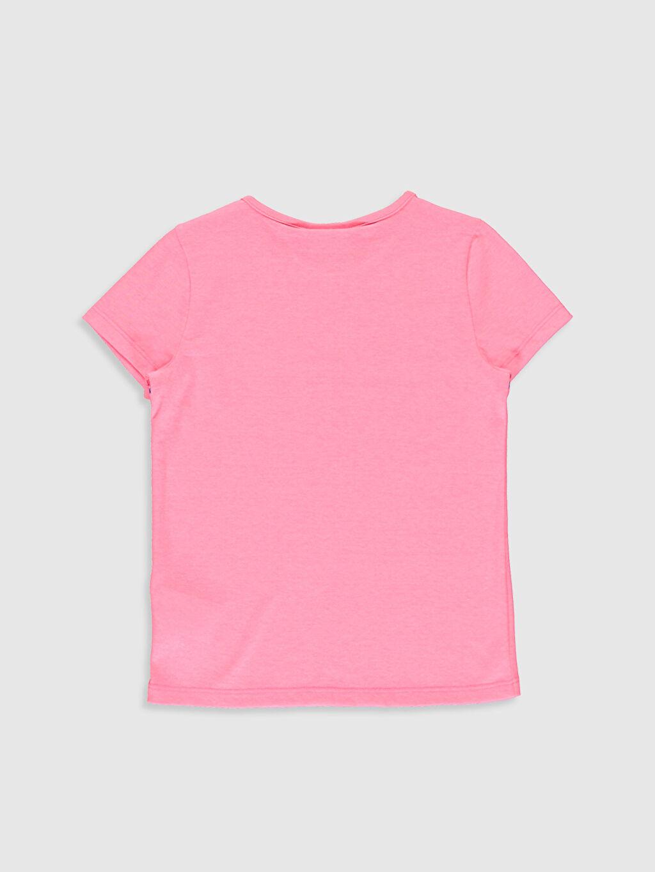 %35 Pamuk %65 Polyester Baskılı Tişört Bisiklet Yaka Kısa Kol Standart Kız Çocuk Unicorn Baskılı Tişört