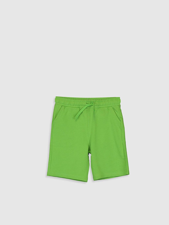 Yeşil Erkek Çocuk Pamuklu Şort 0S6587Z4 LC Waikiki
