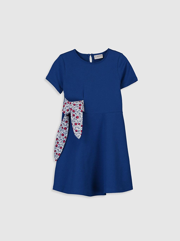 Mavi Kız Çocuk Kısa Kollu Elbise 0S6651Z4 LC Waikiki