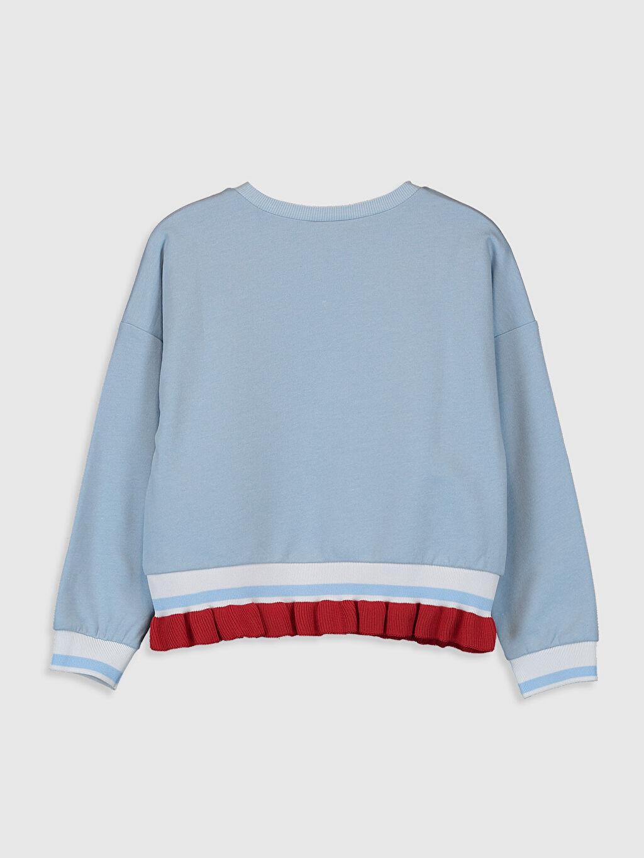 %83 Pamuk %17 Polyester  Kız Çocuk Baskılı Sweatshirt