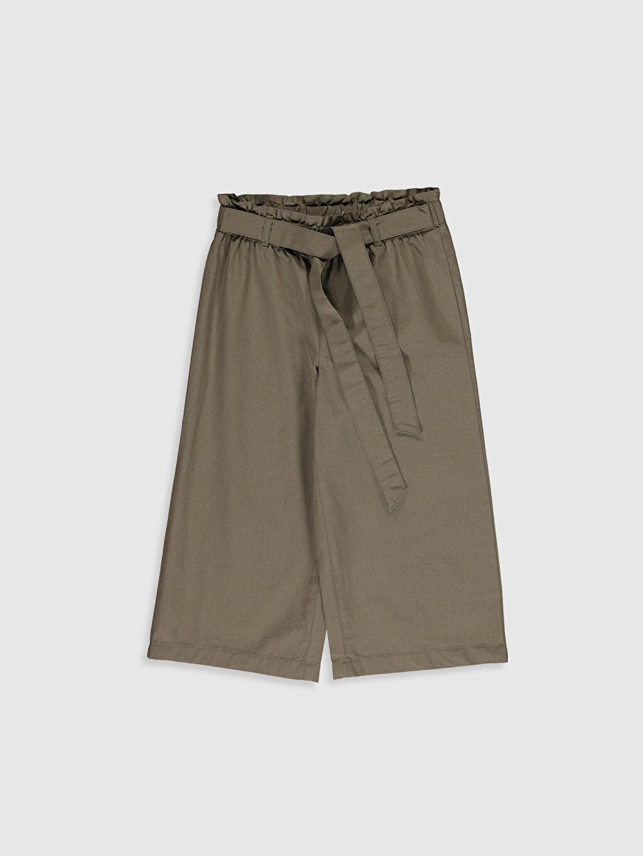 Haki Kız Çocuk Pamuklu Pantolon 0S6680Z4 LC Waikiki