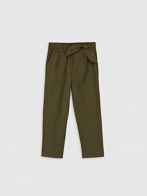 Haki Kız Çocuk Pamuklu Pantolon 0S6683Z4 LC Waikiki