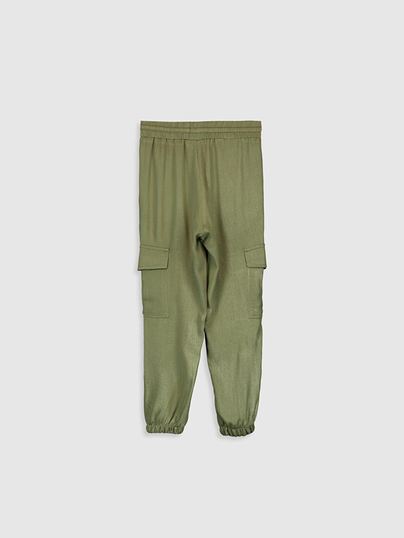 %100 Viskoz Standart Normal Bel Kız Çocuk Jogger Pantolon