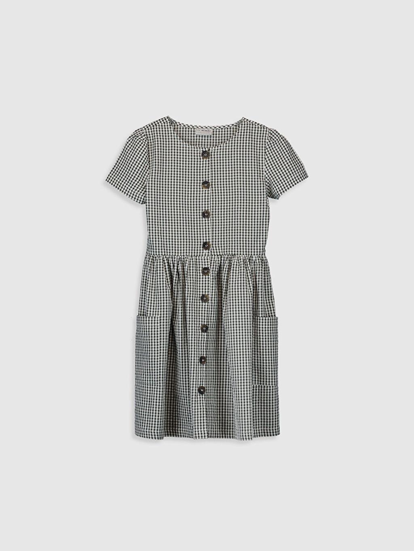 Haki Kız Çocuk Ekose Elbise 0S6697Z4 LC Waikiki