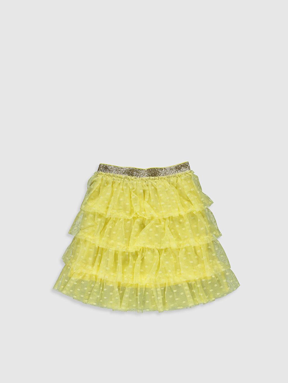 Sarı Kız Çocuk Fırfırlı Tütü Etek 0S6728Z4 LC Waikiki