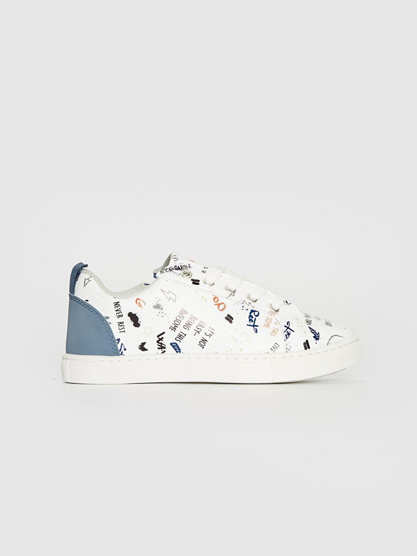 Beyaz Erkek Çocuk Fermuar Detaylı Günlük Spor Ayakkabı 0S6755Z4 LC Waikiki