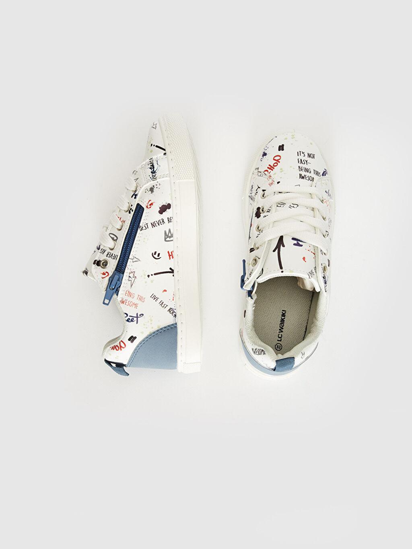 Diğer malzeme (pvc)  Erkek Çocuk Fermuar Detaylı Günlük Spor Ayakkabı