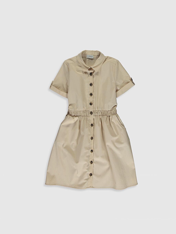 Bej Kız Çocuk Gömlek Elbise 0S6816Z4 LC Waikiki