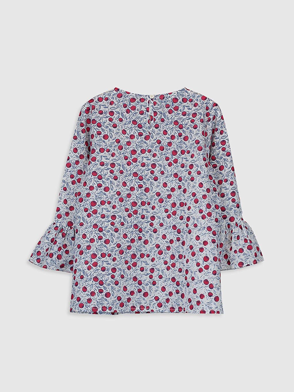 %100 Pamuk Standart Desenli Uzun Kol Bluz Kız Çocuk Desenli Bluz