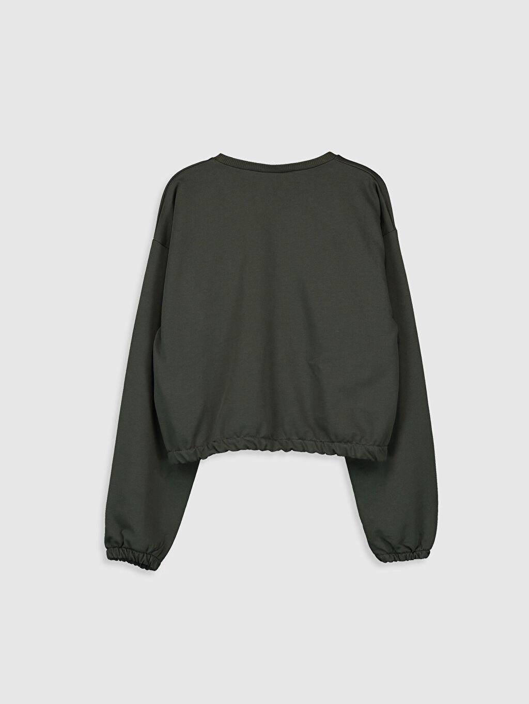 %84 Pamuk %16 Polyester  Kız Çocuk Sweatshirt