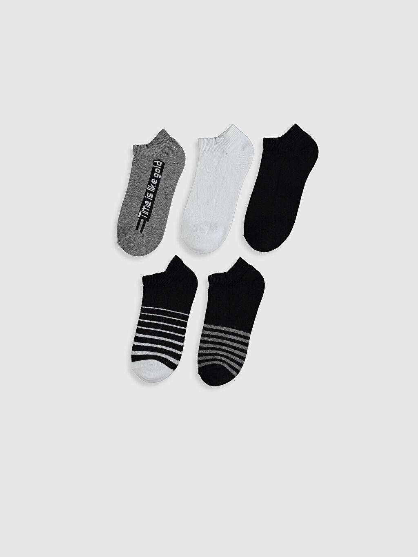 %74 Pamuk %4 Polyester %20 Poliamid %2 Elastan  Erkek Çocuk Patik Çorap 5'li