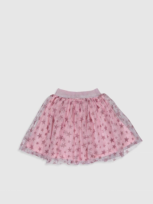 %100 Polyester %100 Pamuk Diz Üstü Desenli Kız Çocuk Baskılı Tütü Etek