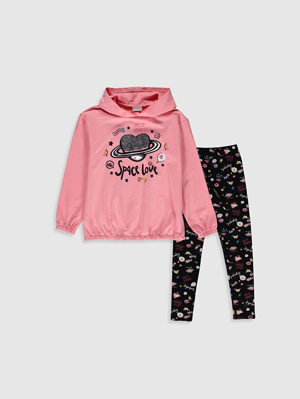 Pembe Kız Çocuk Sweatshirt ve Tayt 0S6971Z4 LC Waikiki