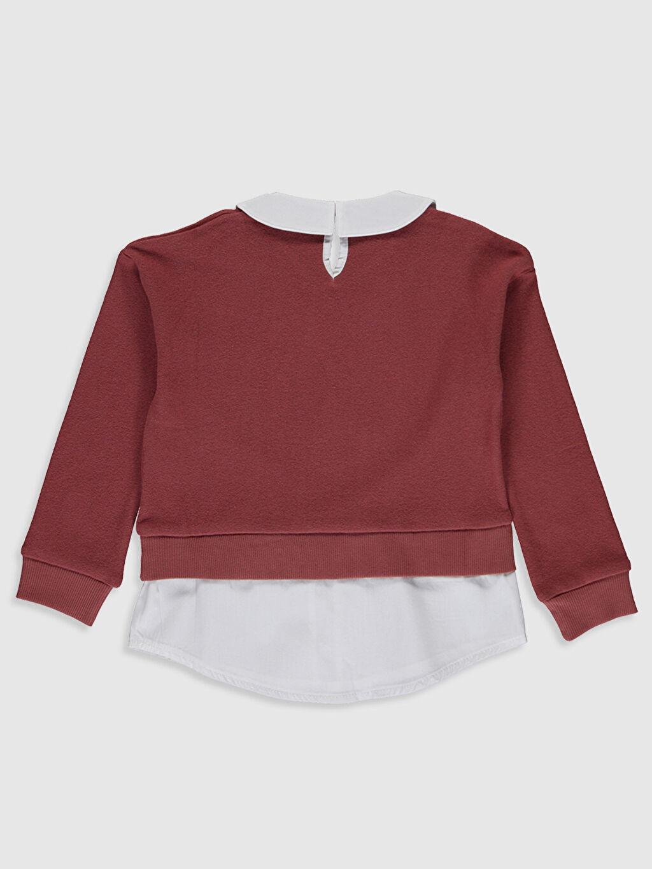 %79 Pamuk %18 Polyester %3 Elastan  Kız Çocuk Baskılı Sweatshirt