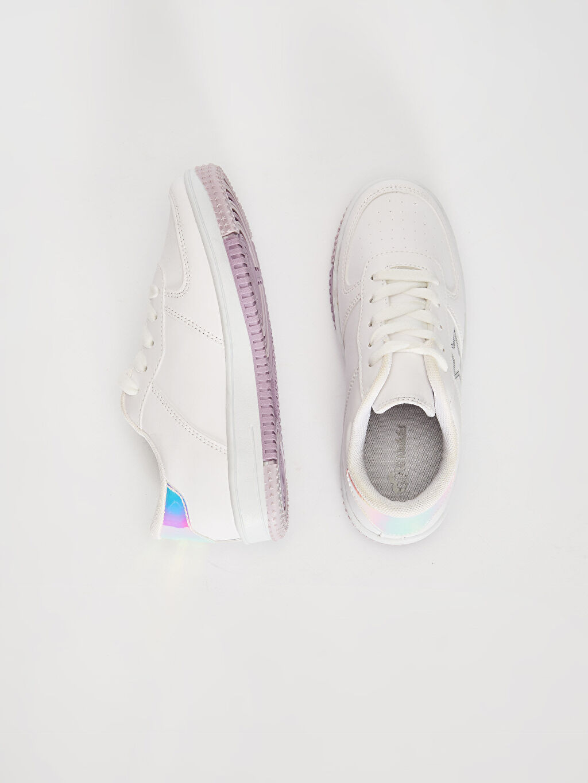 %0 Diğer malzeme (poliüretan)  Kız Çocuk Hologram Detaylı Günlük Ayakkabı