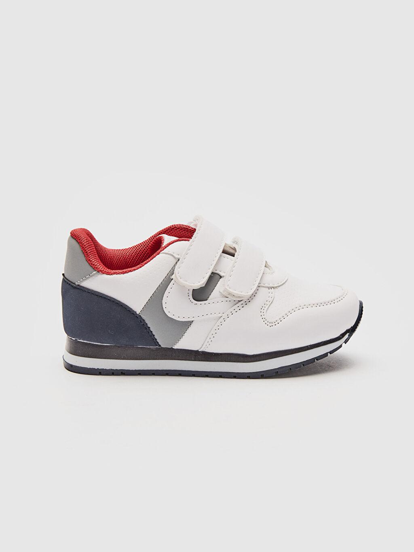 Beyaz Erkek Çocuk Cırt Cırtlı Spor Ayakkabı 0S7041Z4 LC Waikiki