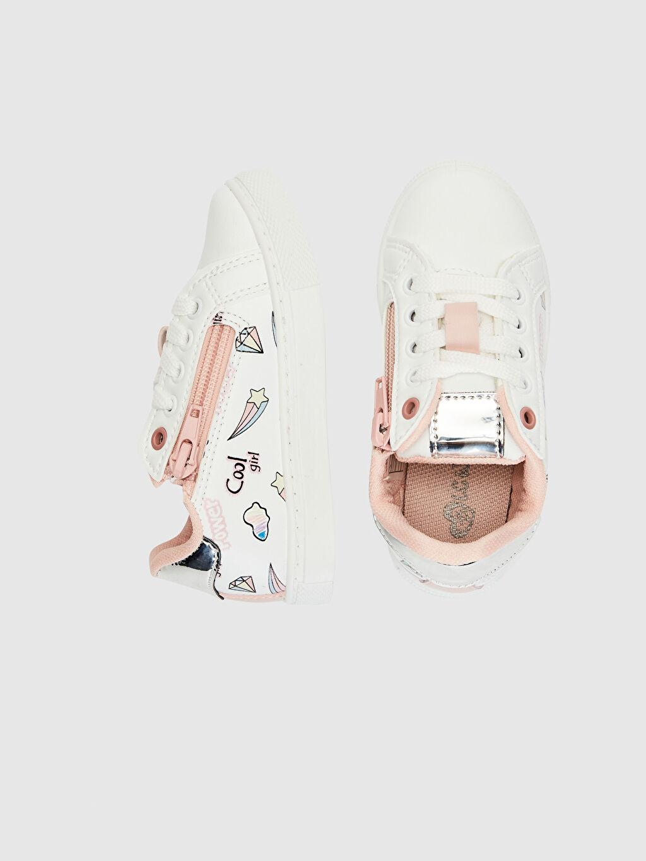 %0 Diğer malzeme (pvc)  Kız Çocuk Fermuarlı Günlük Spor Ayakkabı