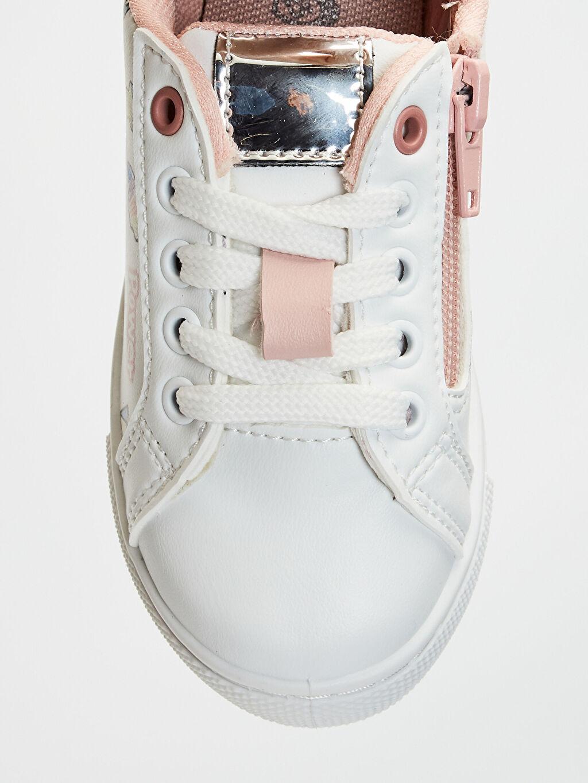 LC Waikiki Beyaz Kız Çocuk Fermuarlı Günlük Spor Ayakkabı