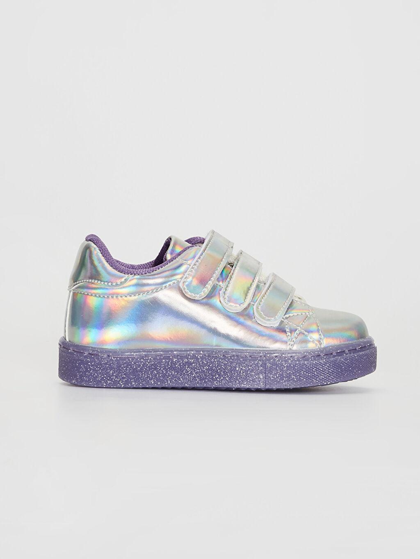 Gri Kız Çocuk Cırt Cırtlı Günlük Ayakkabı 0S7084Z4 LC Waikiki